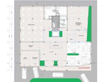 Architectural concept design for small business hotel 2014 y