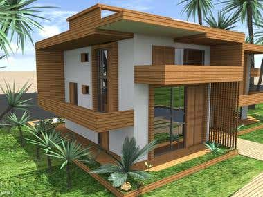 Conceptual design for two residential buildings 2015 year