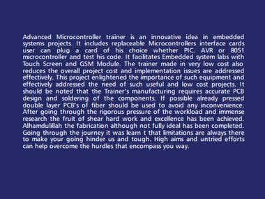 Advanced Microcontroller Trainer