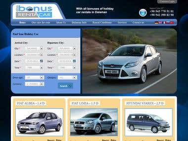DLMBonusrentacar.com website design