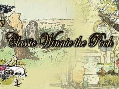 Classic Winnie the Pooh web banner