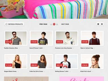 Home Page for Childrens Clothing Brand