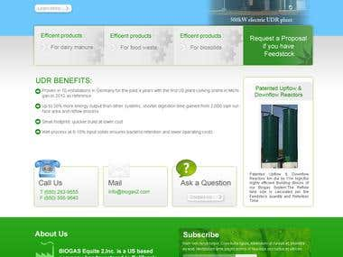 Biogas WordPress Website