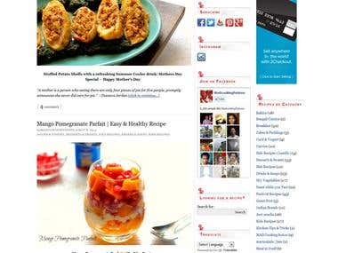 Food Blog Website using worpress
