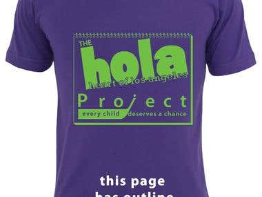 T shirt design - HOLA Project