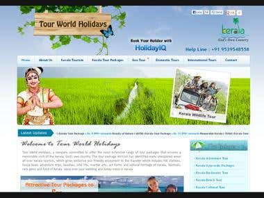 Tour World Holidays (Travel Solution Website)