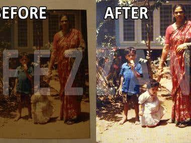 Old photo Restoration.