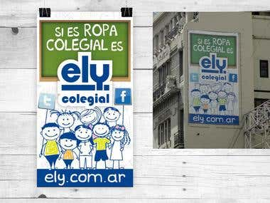 POSTER FOR CAMPAIGN ELY COLEGIAL