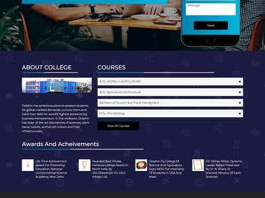 Landing Page For Professional College