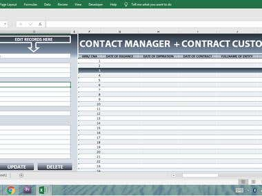 Contact Manager with Custom Contract Creator