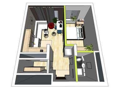 Apartment. SketchUp