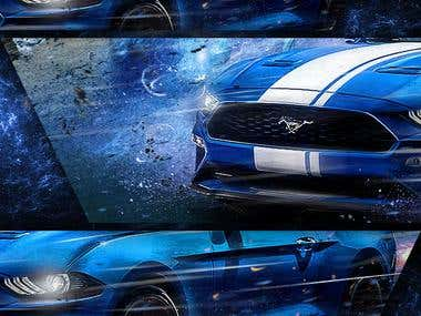 MUSTANG DESIGN WITH HORSE ARTWORK