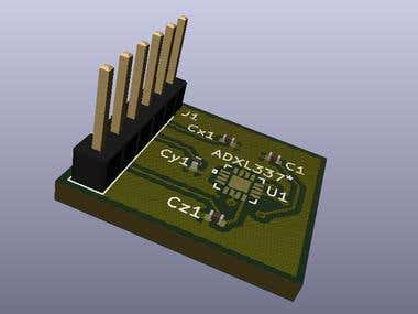 ADXL337 Accelerometer 2 & 4 Layer PCB Design and Layout