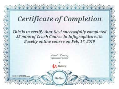 Easely Inforgraphic Certificate