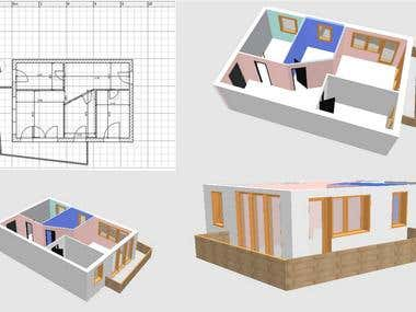 Apartment Draft and 3D