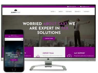 Develop a Tax services Website