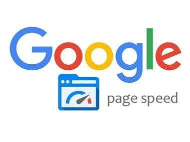 Website Speed Optimisation - Google Page Speed Score