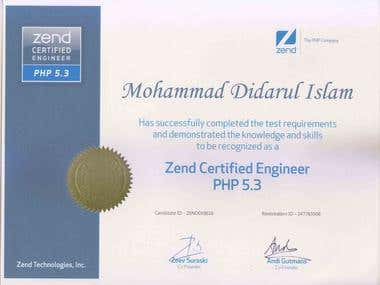 Zend certificate