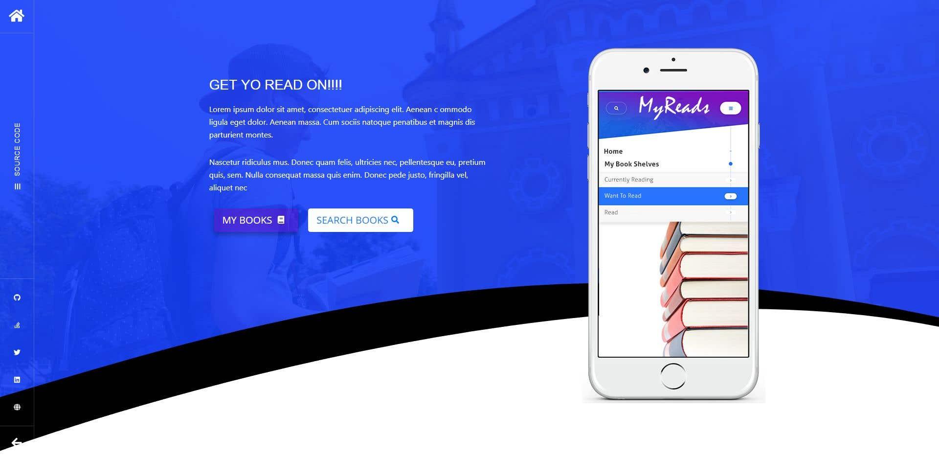 ReactJS Web App - Book Tracker