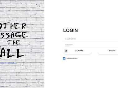 Website - Laravel CRUD Web Application
