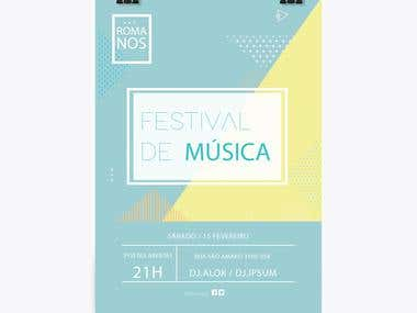 Romanos - Music Festival Poster