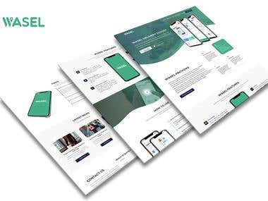 Wasel App Landing Page