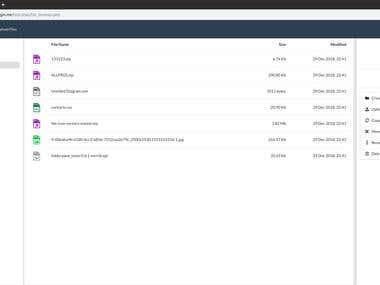 Web-based File Manager/Browser