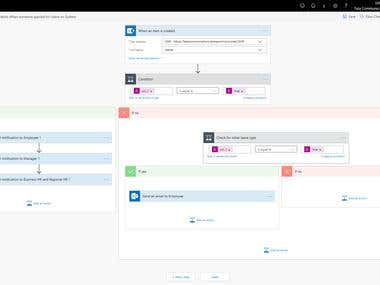 Complex Microsoft Flow of Leave Management