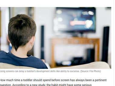 Screen time might be harmful for toddlers
