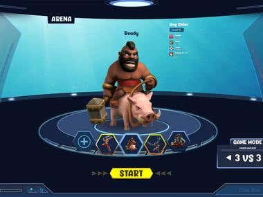 Arena game UI