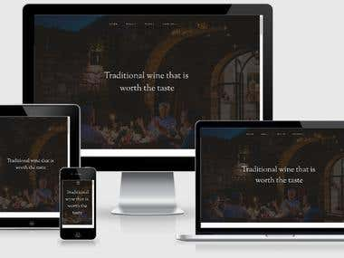 Traditional Winery Website