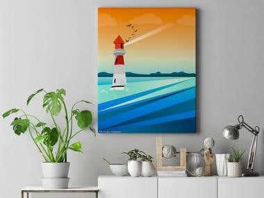 Vector Lighthouse Design