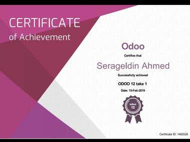 Odoo ERP V12 Certified Concultant