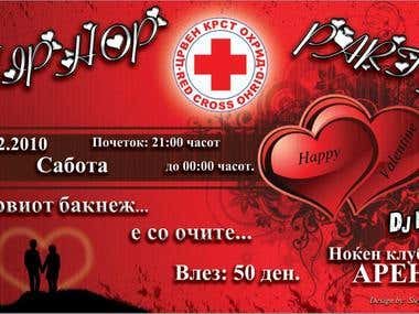 Red Cross party flyer
