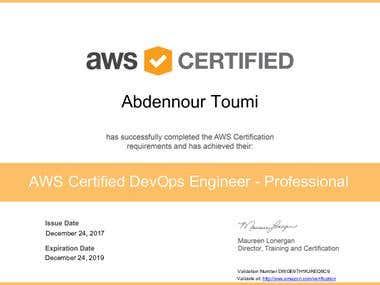 AWS DevOps Engineer Professional Certified