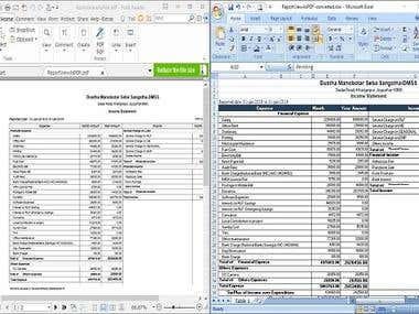 Convert PDF to EXCEL/WORD