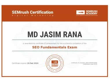 Successfully passed the SEMrush SEO Fundamentals Exam
