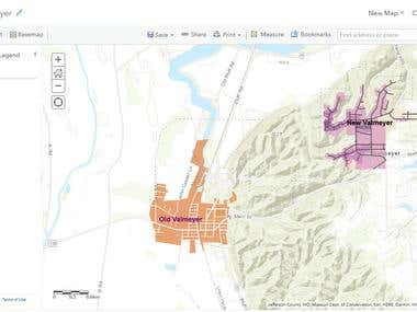 A webmap created in ArcGIS Online