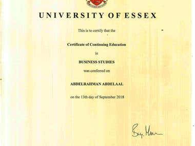 Certificate of Continuing Education
