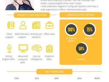 Infographic CV design