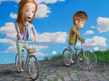 Pixar Style Cartoon Characters