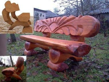 Woodworking and outdoor furniture modelling
