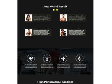 GYM web page design