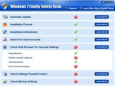 Window7 Family Safety Scan