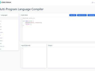 Code Compiler