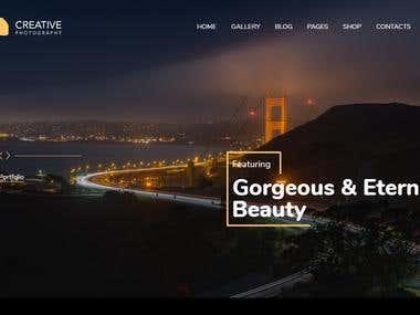 Photography Website Template Design