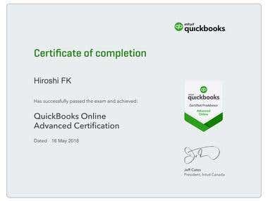 Advanced QuickBooks Online ProAdvisor