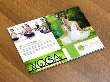 yoga Brochure Design