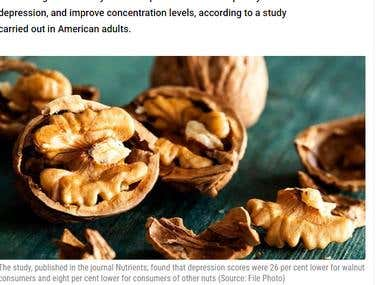 Eating Walnuts may Lower Depression