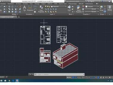 HOUSE ELEVATION DESIGNING IN AUTOCAD
